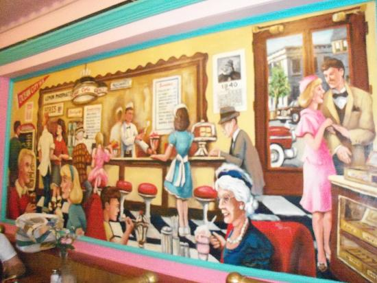 Mural on wall picture of chatterbox restaurant ocean for Mural restaurant