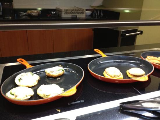 Hyatt Place Grand Rapids-South: two different types of breakfast sandwiches and French toast