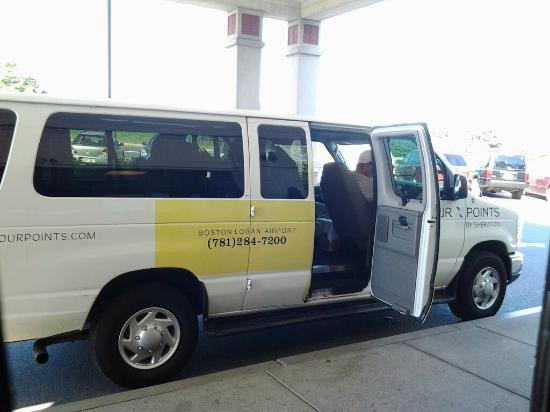 Four Points Boston Logan International Airport: Free hotel shuttle one of the best features. Befriend your drivers, trust them, tip them.