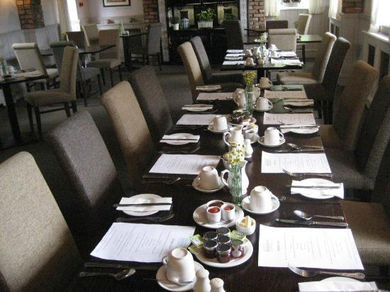 The Blacksmith Country Inn: table set for 10
