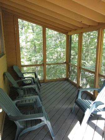Shawnee River Village 2: Screened-in deck of River Village, Unit R-87