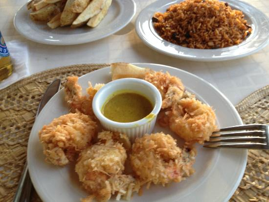 Unique Village: coconut shrimp