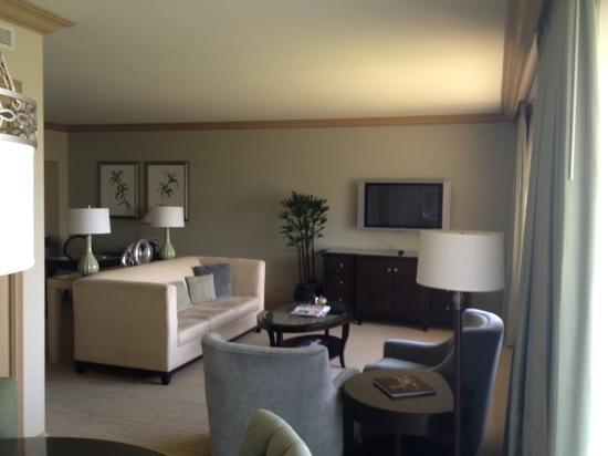 The Canyon Suites at The Phoenician: the living room in my suite.