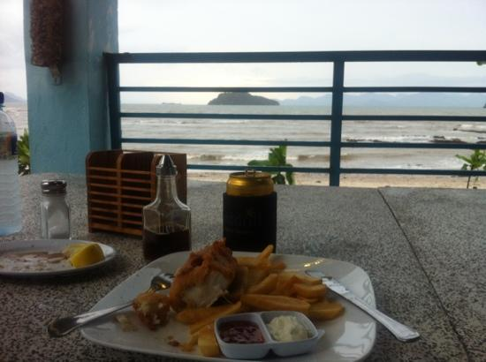 Dont miss this sign picture of scarborough fish chips for Best place for fish and chips near me