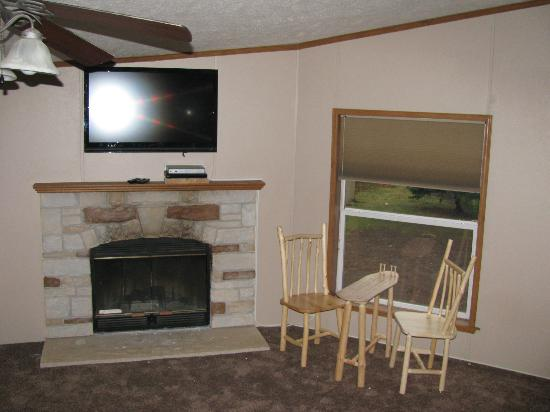 Sturgeon Lake, MN: One of 2 huge living rooms in Eagles Nest Lodge