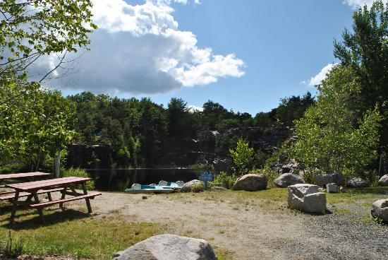 Somes Sound View Campground: The quarry