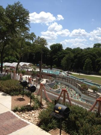 The Resort at Schlitterbahn: view from front porch of cabin 513.