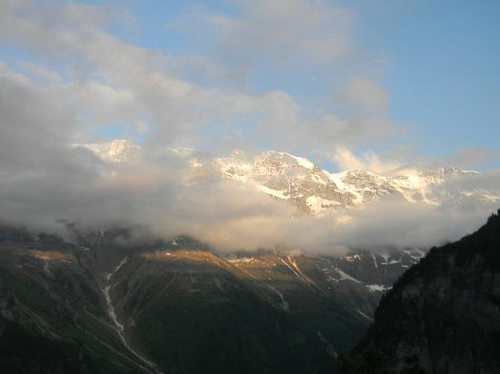 Hotel Mittaghorn: sunset alps