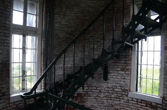 Interior stairs picture of currituck beach lighthouse for Light house interior