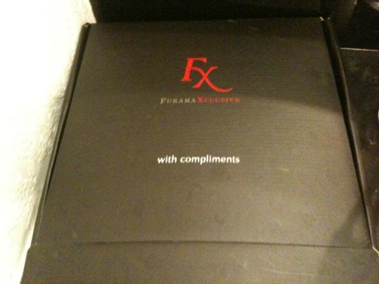FuramaXclusive Sukhumvit: box supplied with toiletries