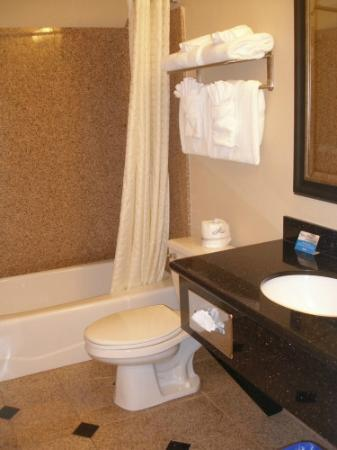 Badezimmer in der Americas Best Value Stage Coach Lodge