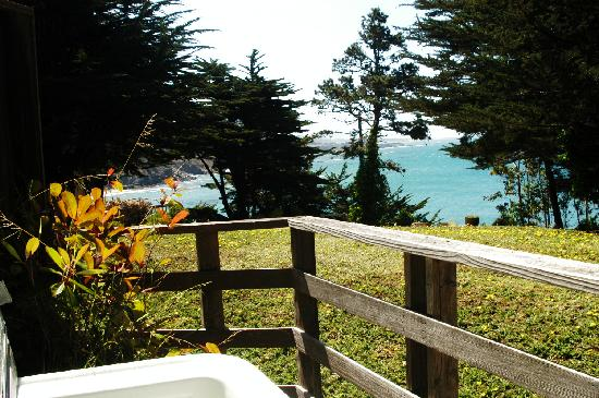 Whale Watch Inn by the Sea: View from your hot tub in Lovesong