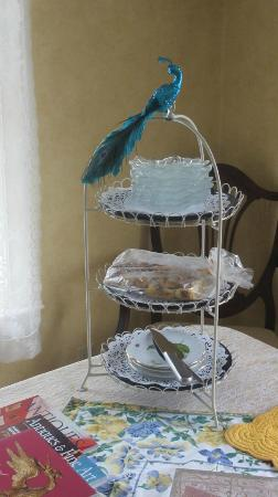 Around the Corner Bed &amp; Breakfast: Designer tray of goodies on the dining room table offering a sampler of treats.