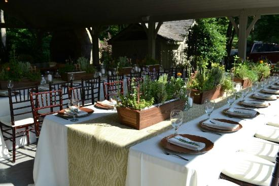 "Hawkesdene House: Beautiful Reception Set up at Hawkesdene. Our Theme was ""Herb Garden""."