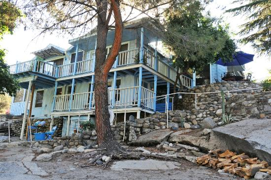 Rio Sierra Riverhouse: View from the riverbank.