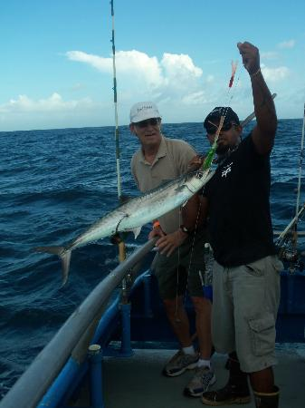 Nice looking king fish aboard the osprey picture of for Deep sea fishing south padre island