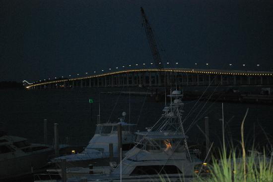 Palace Casino Resort: Night shot of the lighted bridge.