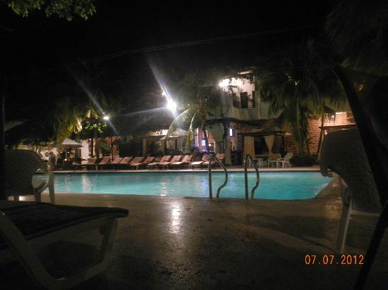 Hotel Mariscal Robledo: Pool at night ,during dinner