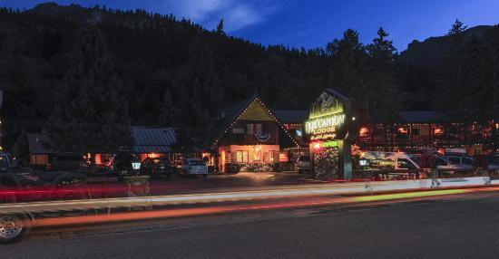 Box Canyon Lodge & Hot Springs after dark.