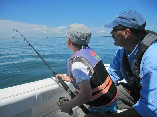 Capt dave teaches my little man to fish picture of plan for Martha s vineyard fishing charters