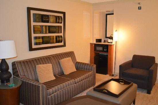 Living room picture of embassy suites hotel santa clara for Sitting room suites