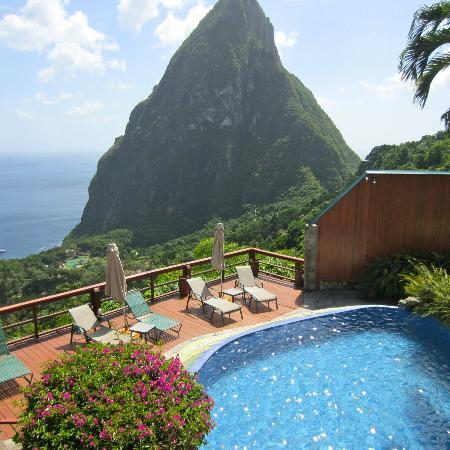 Nature's Paradise: Ladera- where we had lunch with David during our private tour of Soufriere!