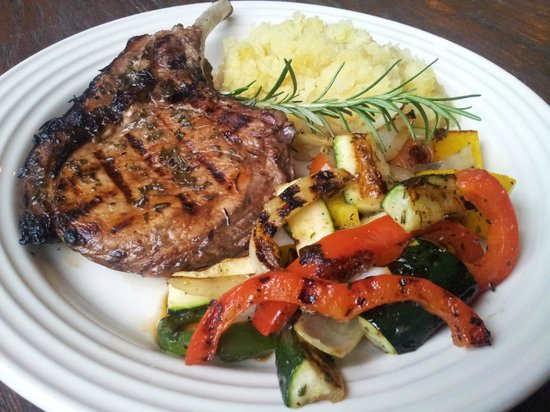 Devilicious: Balsamic Glazed Rosemary Pork Chop with Mashed Potatoes ...