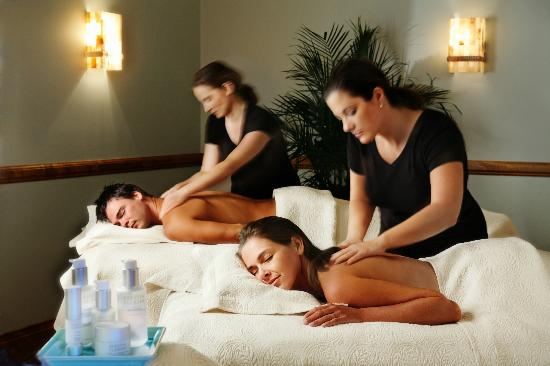 Couples massage picture of flowering almond spa for Spa weekend packages for couples