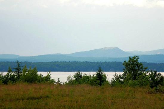 Bar Harbor Campground: The view from the children's playground