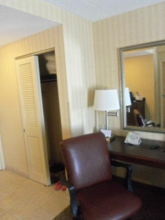 Holiday Inn Express Hotel & Suites West Long Branch: desk and closet