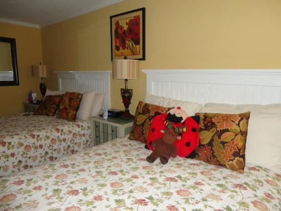 Madison Inn: My son was happy to see that the staff made his stuffed animals comfy while we were at the beach
