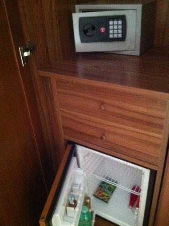 Trevi Luxury Rooms: locker and fridge