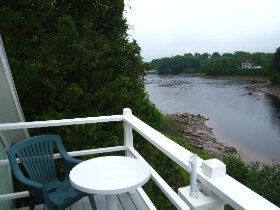 Riverside Inn and Restaurant: view off the balcony