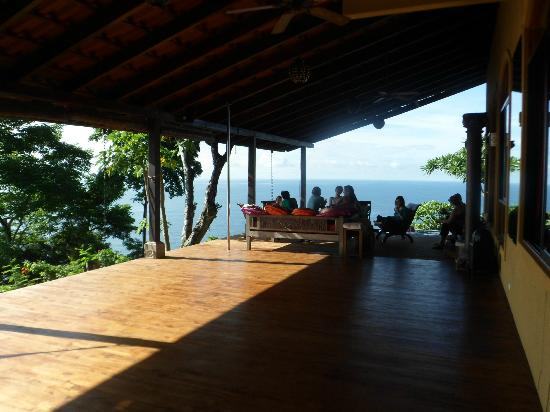 Anamaya Resort & Retreat Center: yoga deck and couches