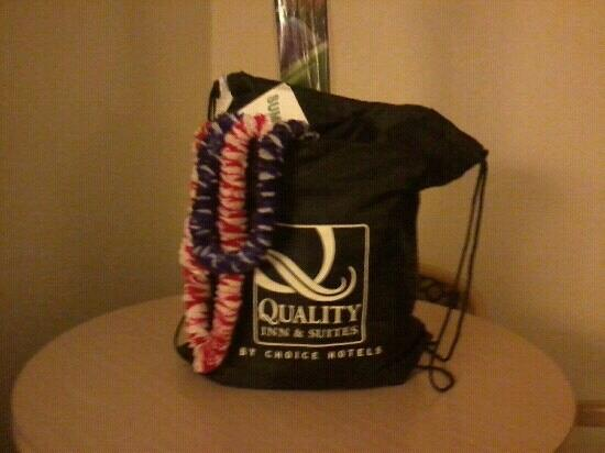 Quality Inn &amp; Suites: gift bags