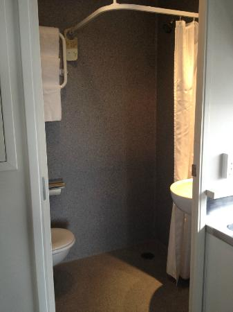 Ibis Styles Auckland: The bathroom. It was too small to photograph from inside!