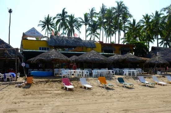 Las Brisas Hotel - Restaurant - Bar: Las Brisas from the beach