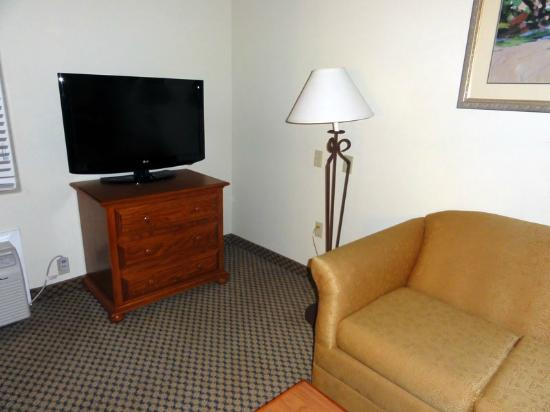 Holiday Inn Express & Suites : Sofa in the living room of the suite