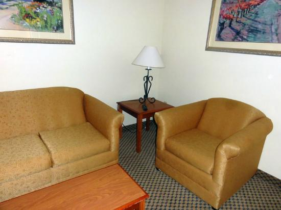 Holiday Inn Express &amp; Suites: Sofa, couch in suite