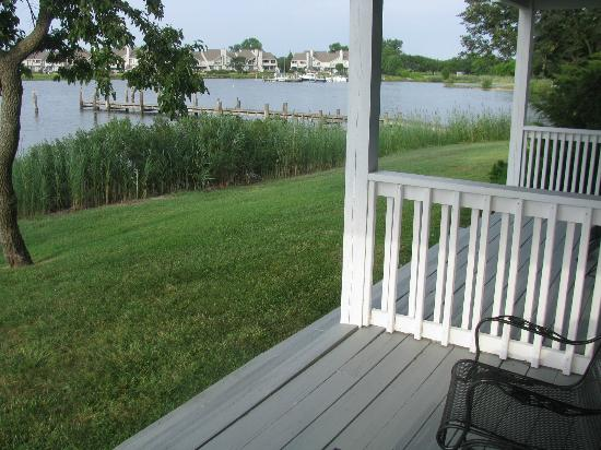 Harbourtowne Golf Resort: On the back deck of the room with water views on 3 sides