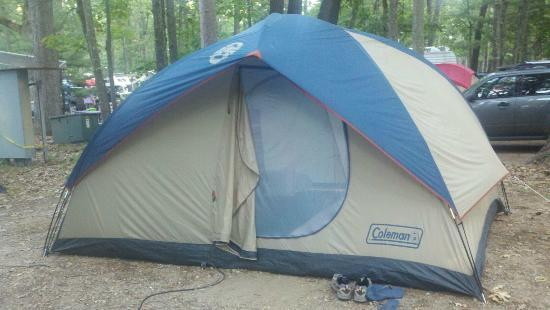 Interlochen, MI: our tent on our large site (144)