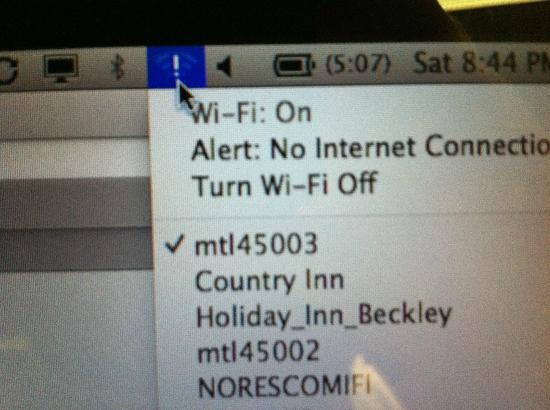 Microtel Inn by Wyndham Beckley: No wi-fi.