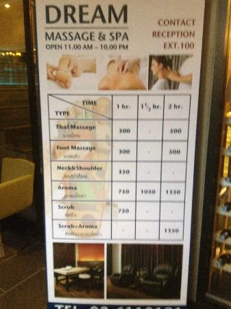 Siam Swana Hotel: Massage available from within Siam Swana