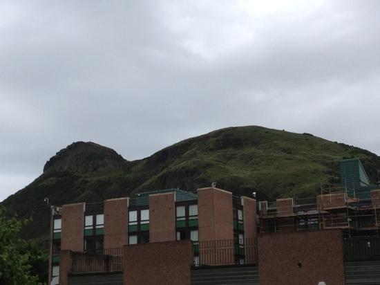 Pollock Halls - Edinburgh First: Arthur's Seat view from hotel