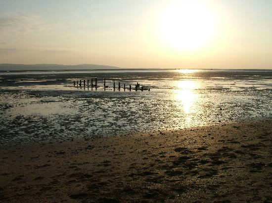 Sun Coming Down On West Kirby Beach Picture Of West