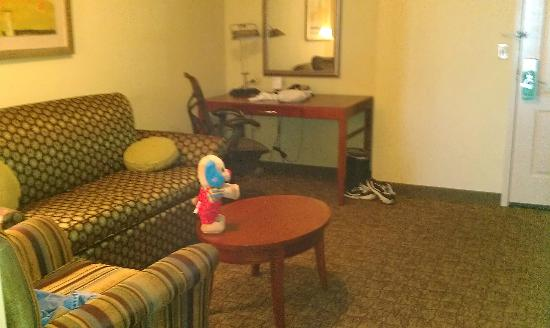 Hilton Garden Inn Evansville: desk in living area