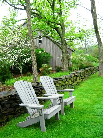 Woolverton Inn: the private suite cabins are just there