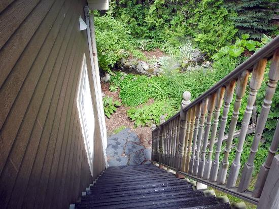 Auberge Majella: Stairs leading to our room