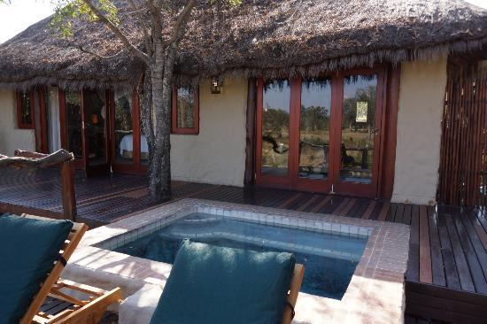 Simbambili Game Lodge: our own deck