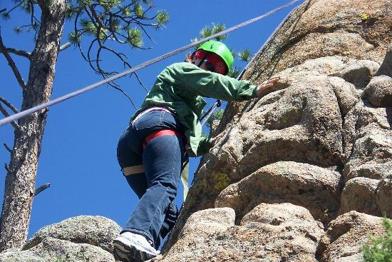 Sundance Trail Guest & Dude Ranch: Rock climbing fun